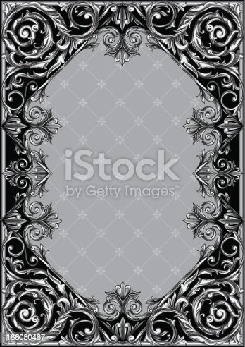 Decorative rectangle frame, vector artwork