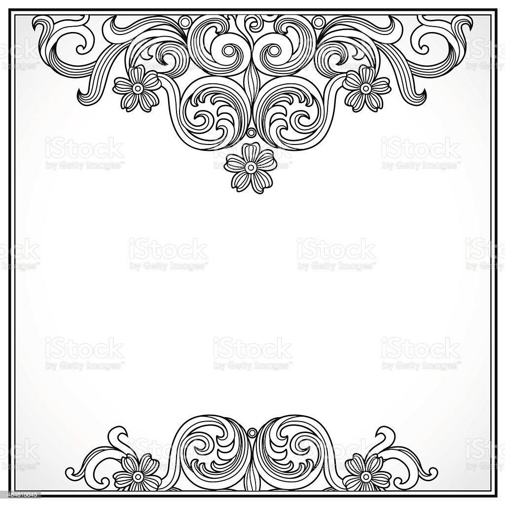 Vintage Verzierten Rahmen Stock Vektor Art und mehr Bilder von ...