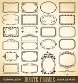vintage ornate frames set (vector)