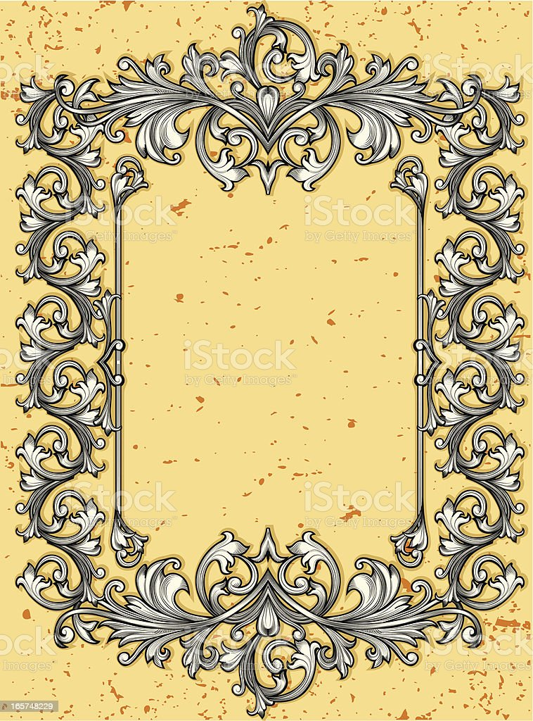 Vintage ornated frame royalty-free vintage ornated frame stock vector art & more images of abstract