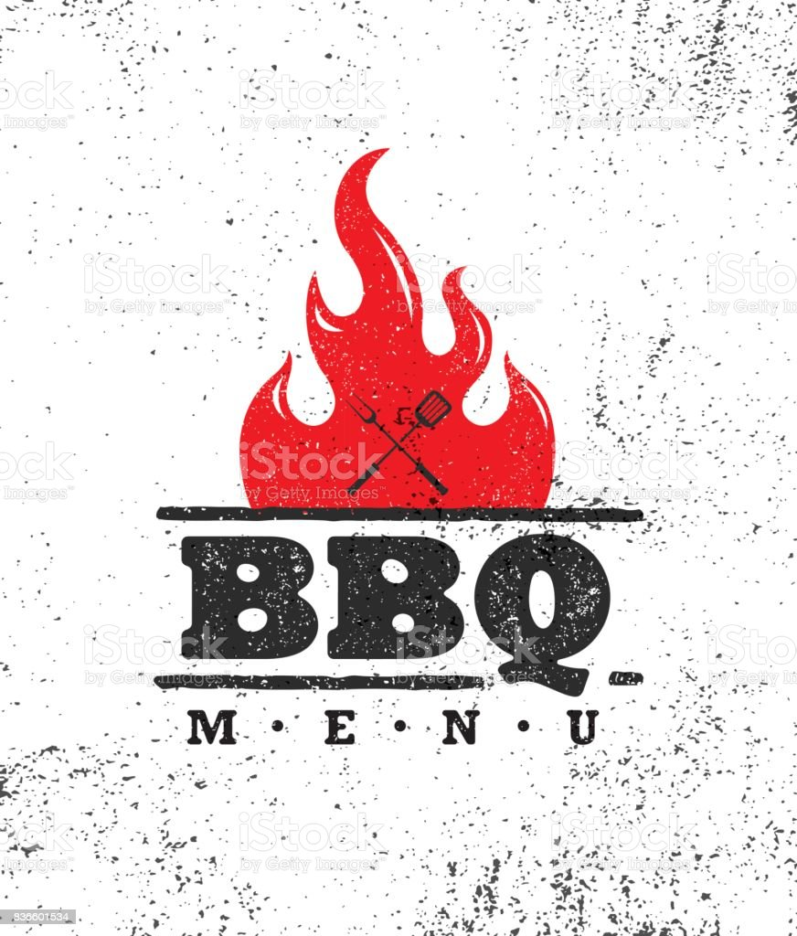 Vintage Outdoor Food Barbecue BBQ Graphic Vector Design Element vector art illustration
