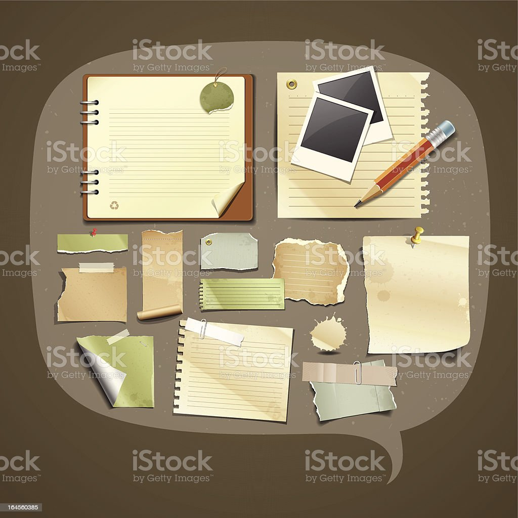 Vintage Paper collections design royalty-free vintage paper collections design stock vector art & more images of black color