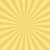 Vector Vintage background with Sun rays. Old paper with stains