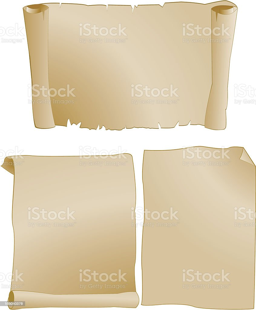 vintage parchment paper royalty-free stock vector art