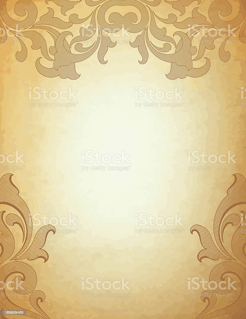 Vintage Parchment Scrollwork royalty-free stock vector art