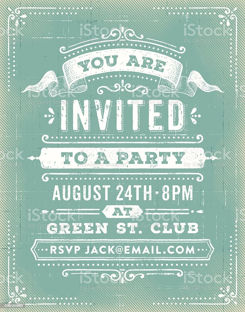 Vintage Party Invitation