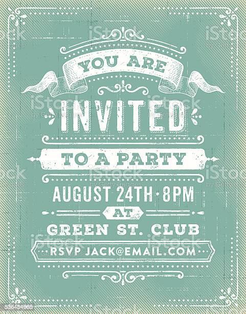 Vintage party invitation vector id536454965?b=1&k=6&m=536454965&s=612x612&h=z2mbfkeogi 7sk5ocxd8hbthnl9hbfjasks5huib r4=