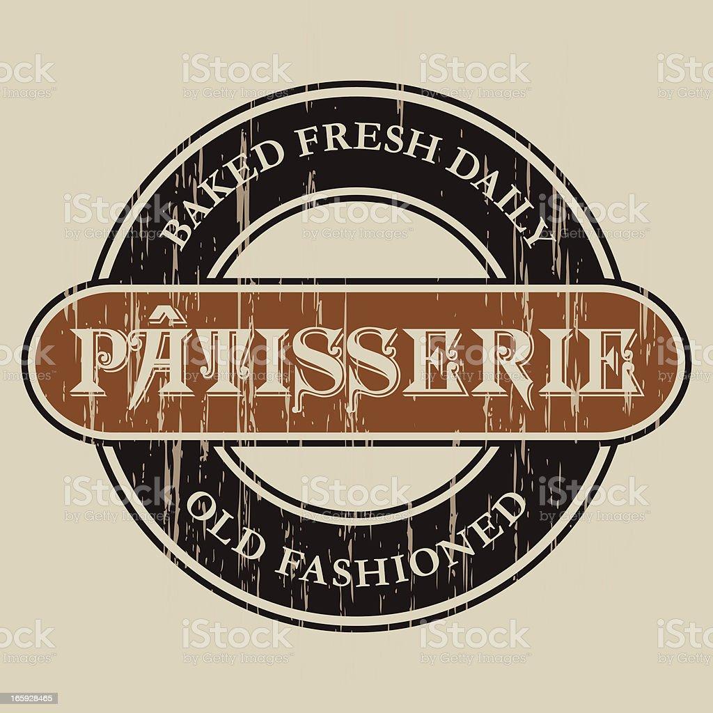 Vintage Patisserie Label royalty-free stock vector art