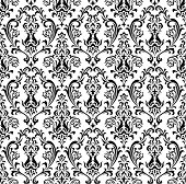 A vintage pattern in black on a white background