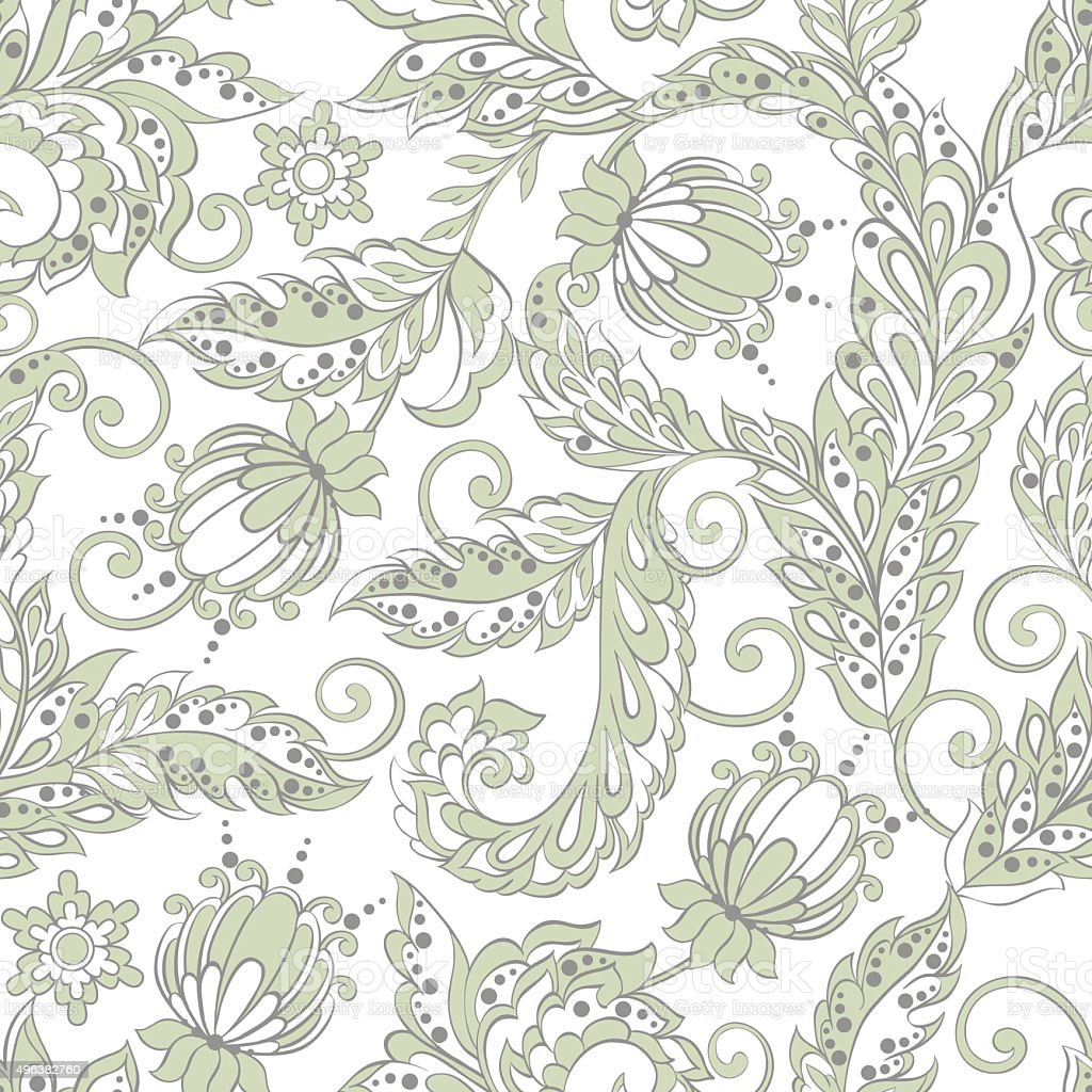 grey paisley background