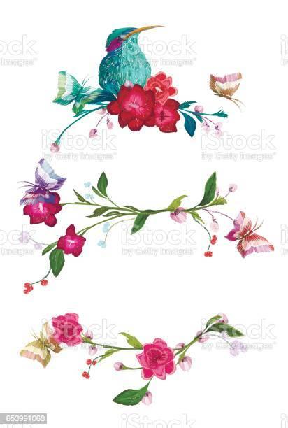 Vintage pattern in set butterfly and flower leaf branch vector id653991068?b=1&k=6&m=653991068&s=612x612&h=mv0zr5j 7fvxi81iybezp348nz3rsl9bnwexaar2z 8=