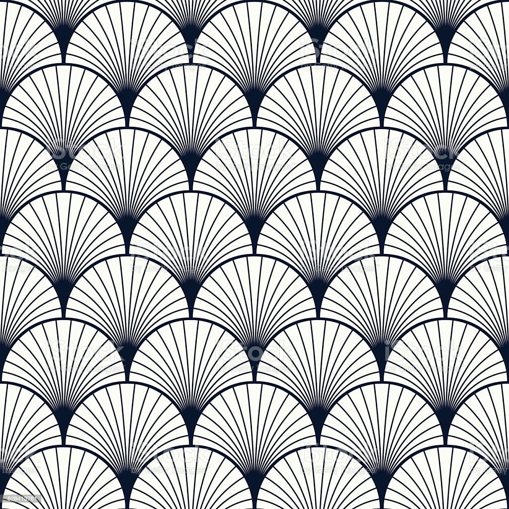 vintage pattern of shells vector art illustration