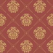 Vintage pattern seamless baroque style. Floral wallpaper textile, vector illustration