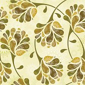 Floral pattern in vintage style.