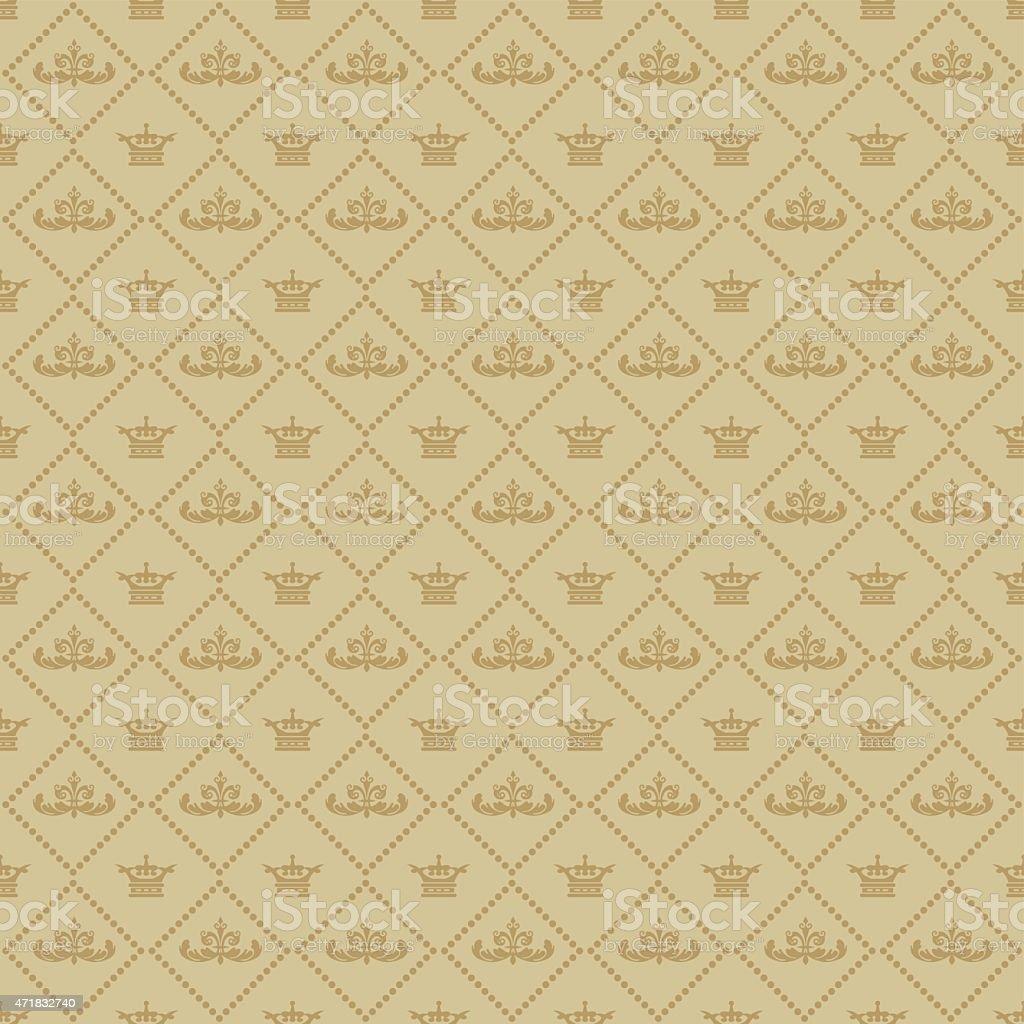 Vintage Muster Tapete Für Ihre Design Braun Lizenzfreies Vintage Muster  Tapete Für Ihre Designbraun Stock