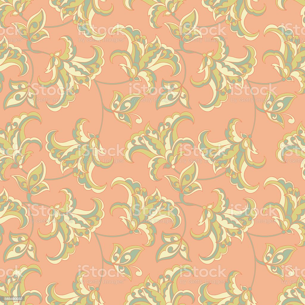 vintage pattern with beautiful flowers vector floral background
