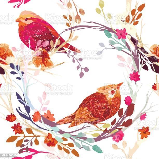 Vintage pattern with flowers vector id691436516?b=1&k=6&m=691436516&s=612x612&h=27juyxbjmg v9rrnvvv74f gszm2haxxqaegf5pz5m4=