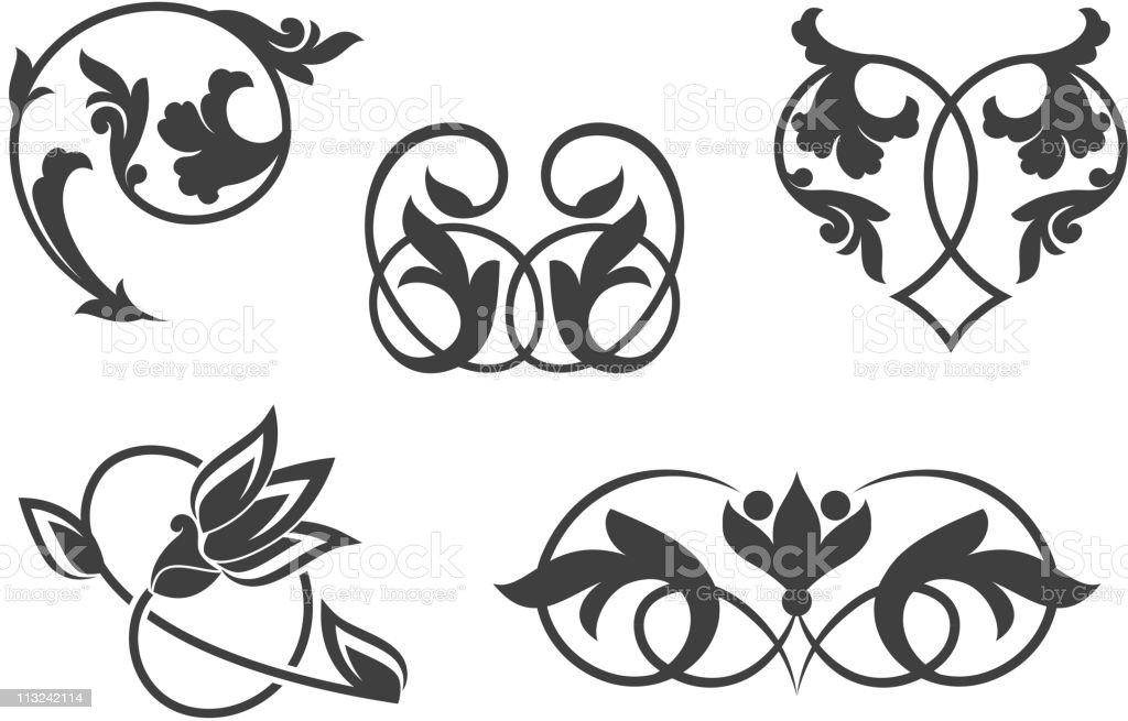 Vintage patterns in victorian style royalty-free stock vector art