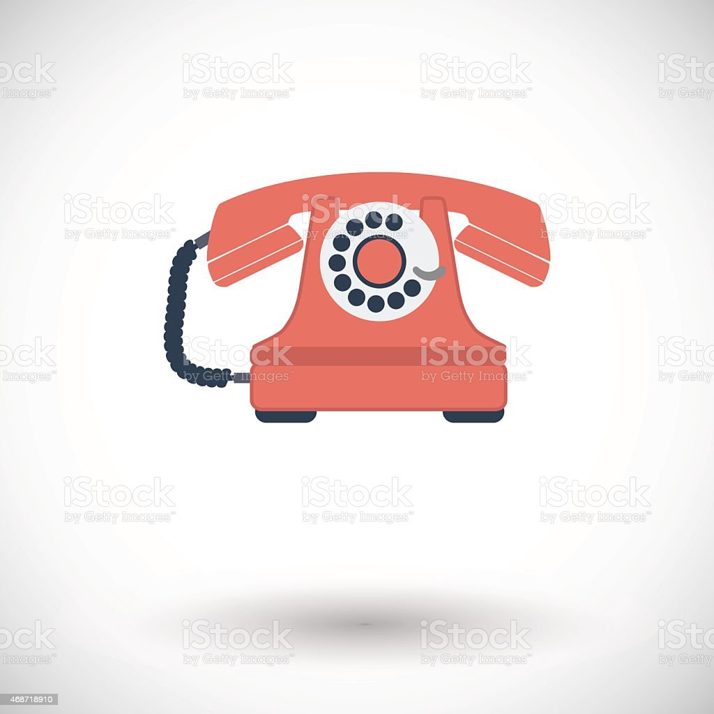 Vintage phone icon vector art illustration
