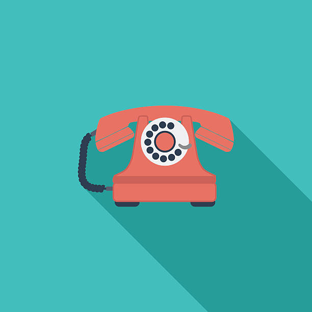 Vintage phone icon. vector art illustration