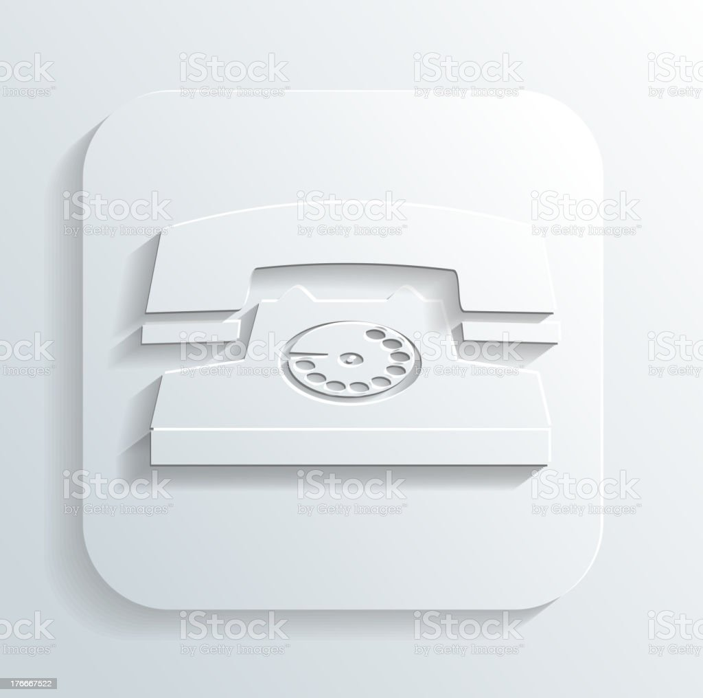 vintage phone icon vector royalty-free vintage phone icon vector stock vector art & more images of business