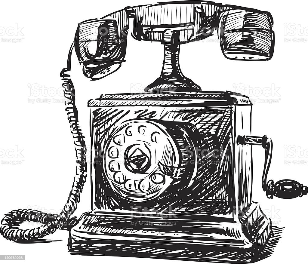 Vintage Phone Royalty Free Stock Vector Art Amp More Images Of Ancient
