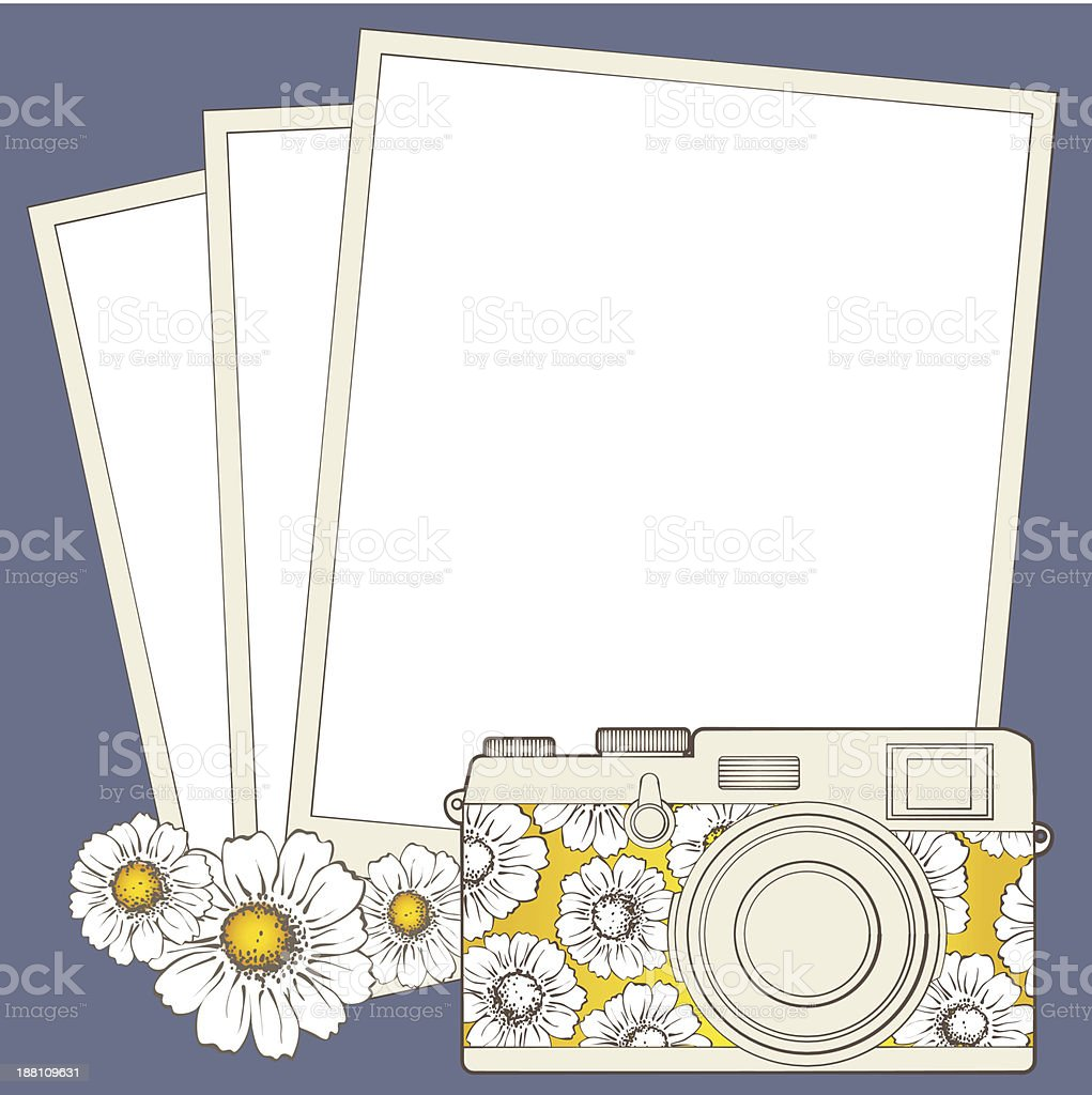 Vintage photo camera with vignette royalty-free stock vector art