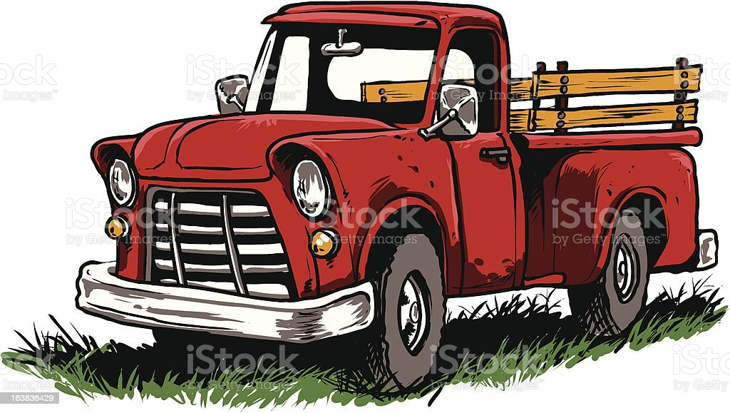 Vintage Pickup Truck Stock Vector Art & More Images of Antique ...