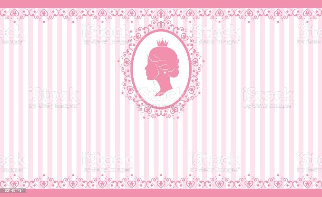Vintage pink background design
