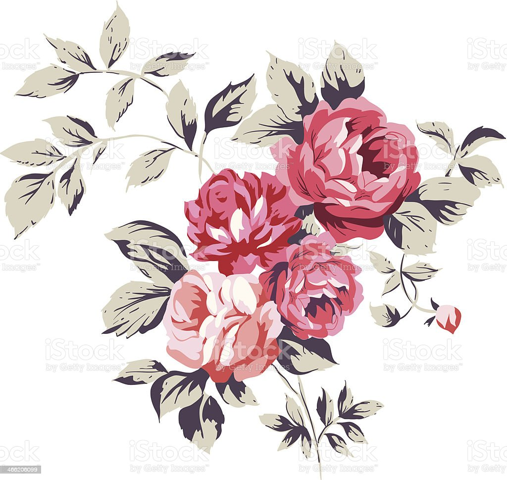 Vintage Pink Roses royalty-free vintage pink roses stock vector art & more images of antique