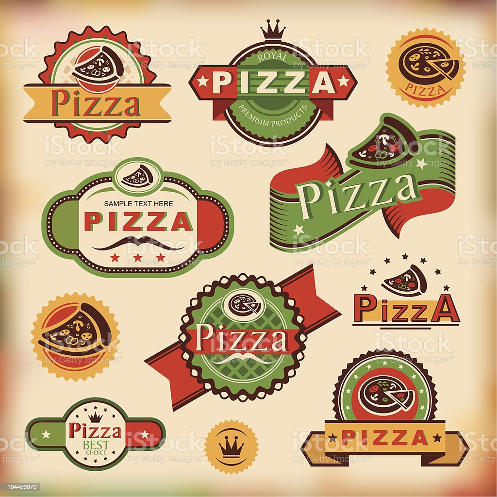 vintage pizza labels royalty-free vintage pizza labels stock vector art & more images of abstract