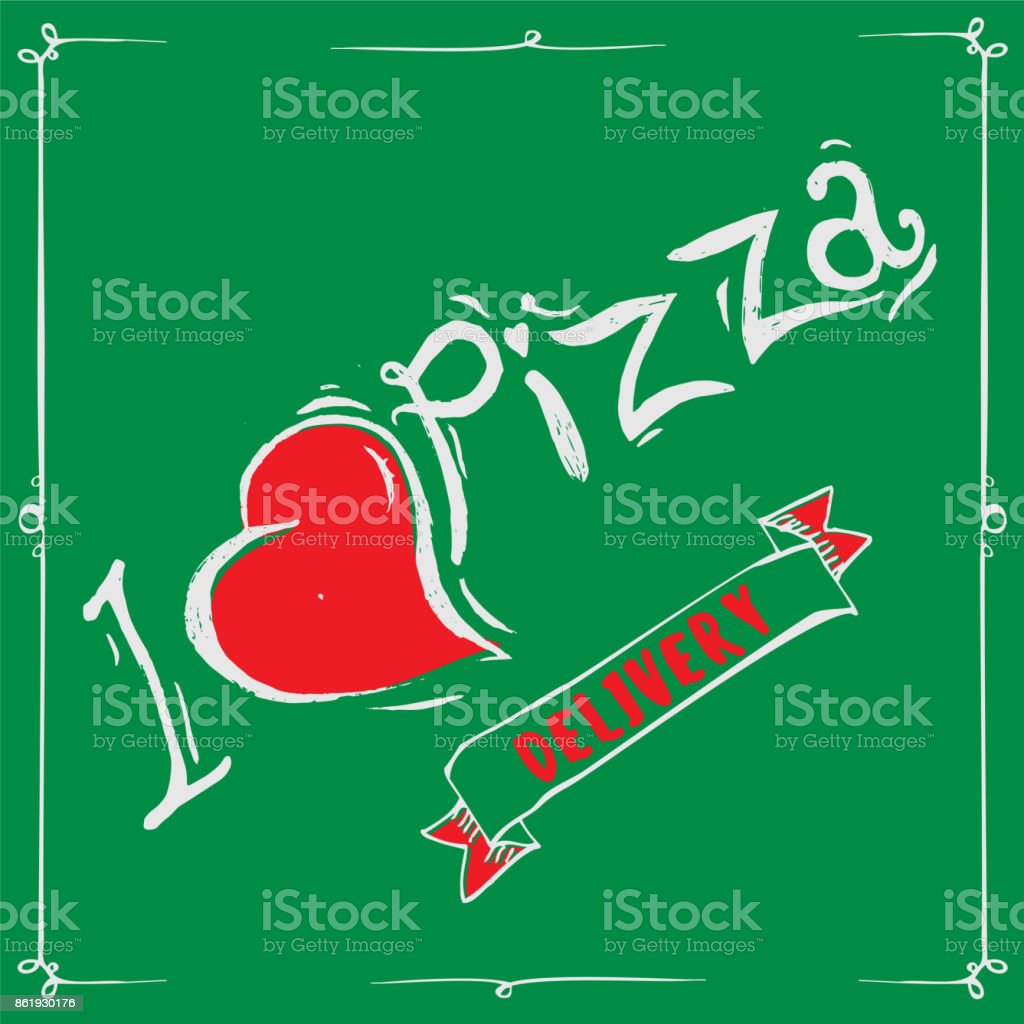 Vintage Pizza Sign Background Template Or Box DesignDelivery Royalty