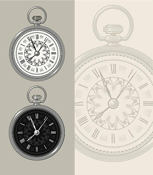 Vintage Pocket Watch - Steampunk vector illustration vector art illustration