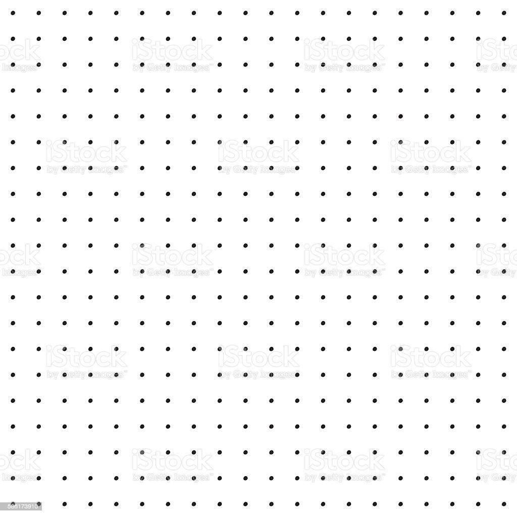 Vintage Polka Dot Pattern - ilustração de arte em vetor