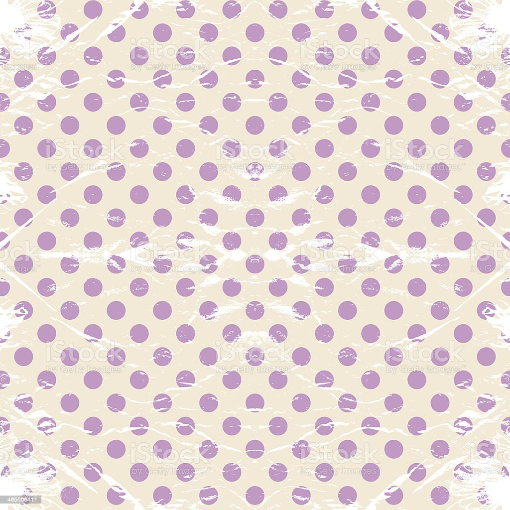 Vintage polka dots rumpled. royalty-free stock vector art
