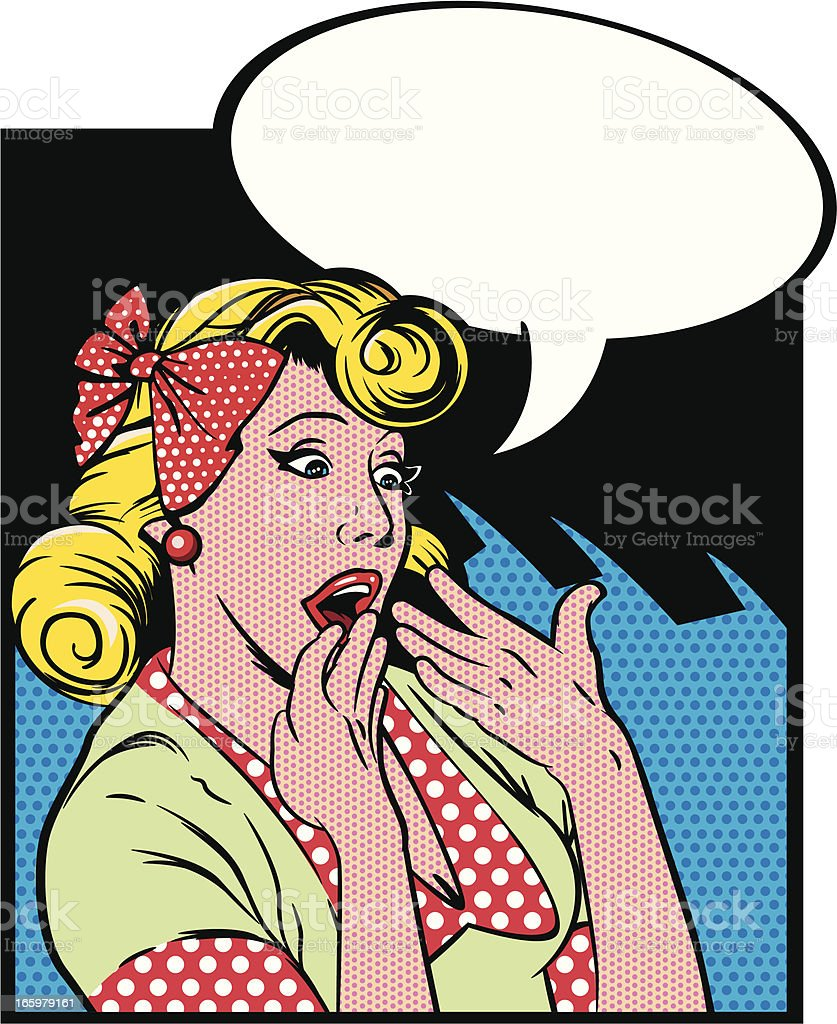 vintage pop art girl royalty-free vintage pop art girl stock vector art & more images of 1960-1969