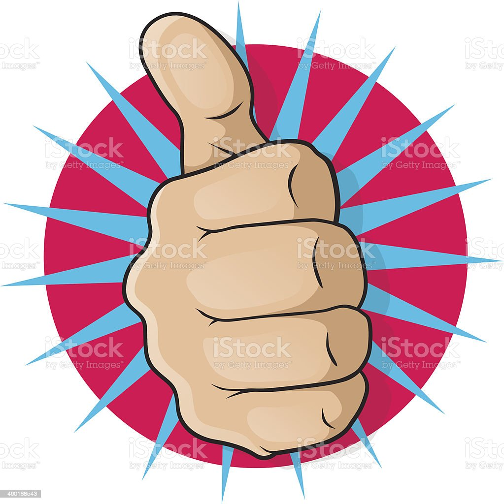 Vintage Pop Art Thumbs Up. - Royalty-free 1950-1959 stock vector