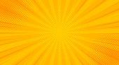 istock Vintage pop art yellow background. Banner vector illustration 1170665840