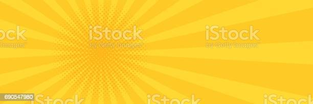 Vintage pop art yellow background banner vector illustration vector id690547980?b=1&k=6&m=690547980&s=612x612&h=ilxhhkfglrdumfzgz7xyqp2ng6nlwup3jmwg8bvmlag=