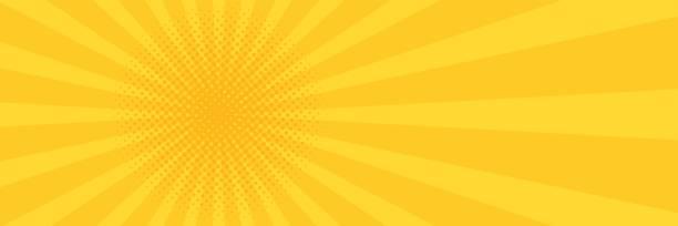 Vintage pop art yellow background. Banner vector illustration Vintage pop art yellow background. Banner vector illustration. book backgrounds stock illustrations