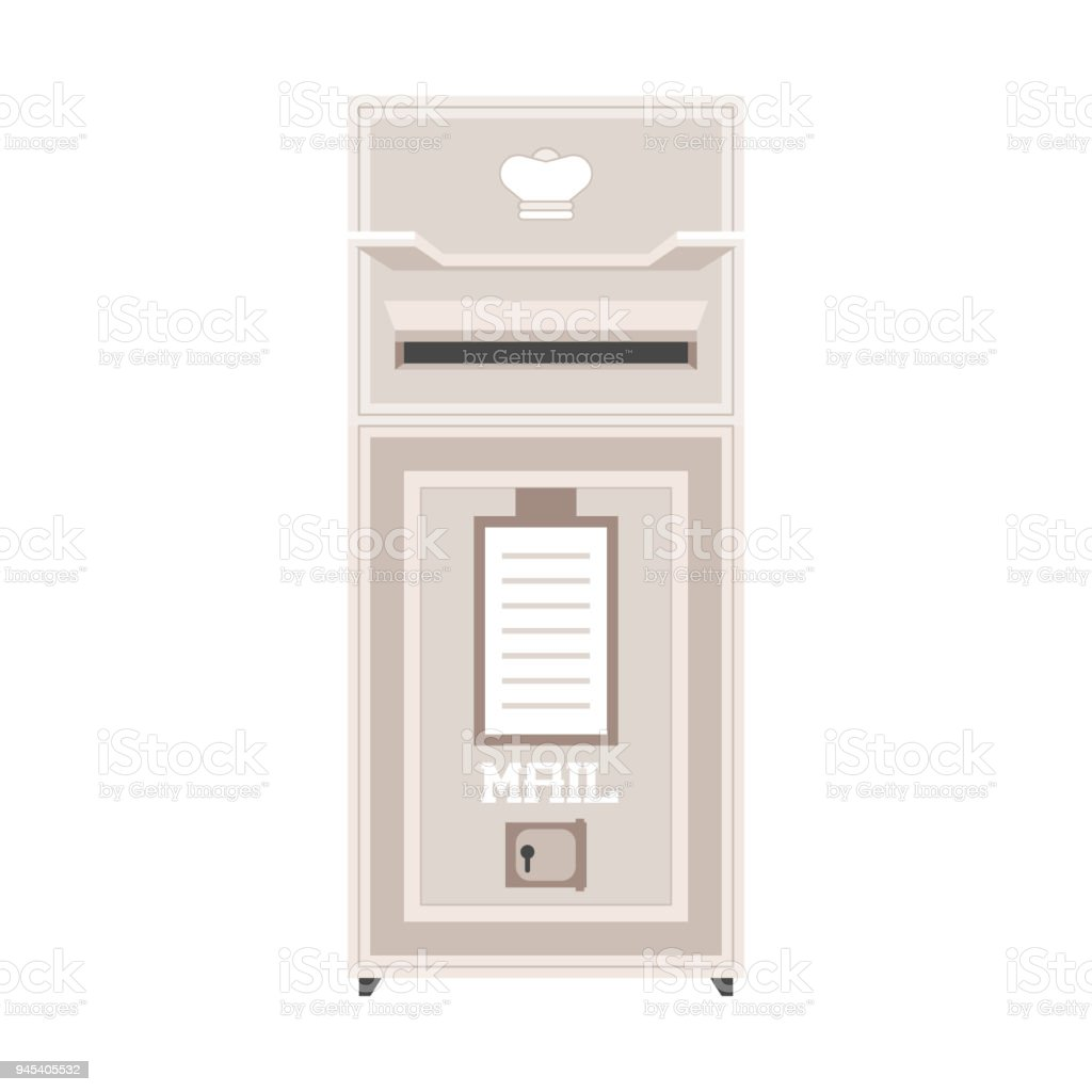 Vintage Post Box Or Mailbox Icon Stock Illustration Download Image Now Istock