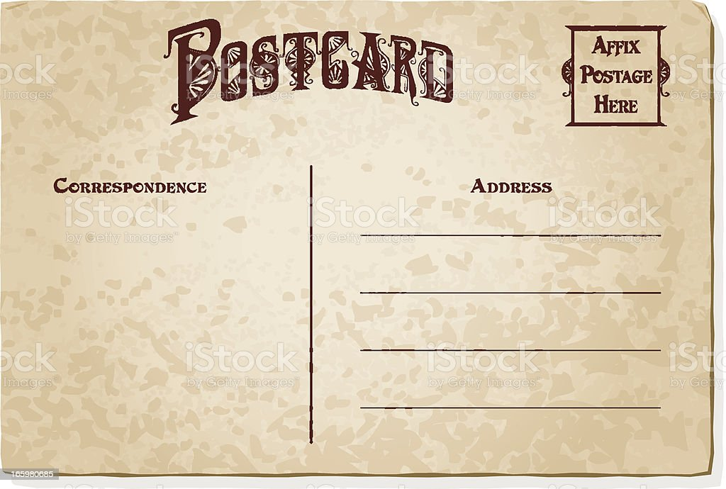 Vintage Postcard Template Stock Vector Art More Images Of Art