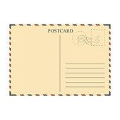 Vintage postcard, template