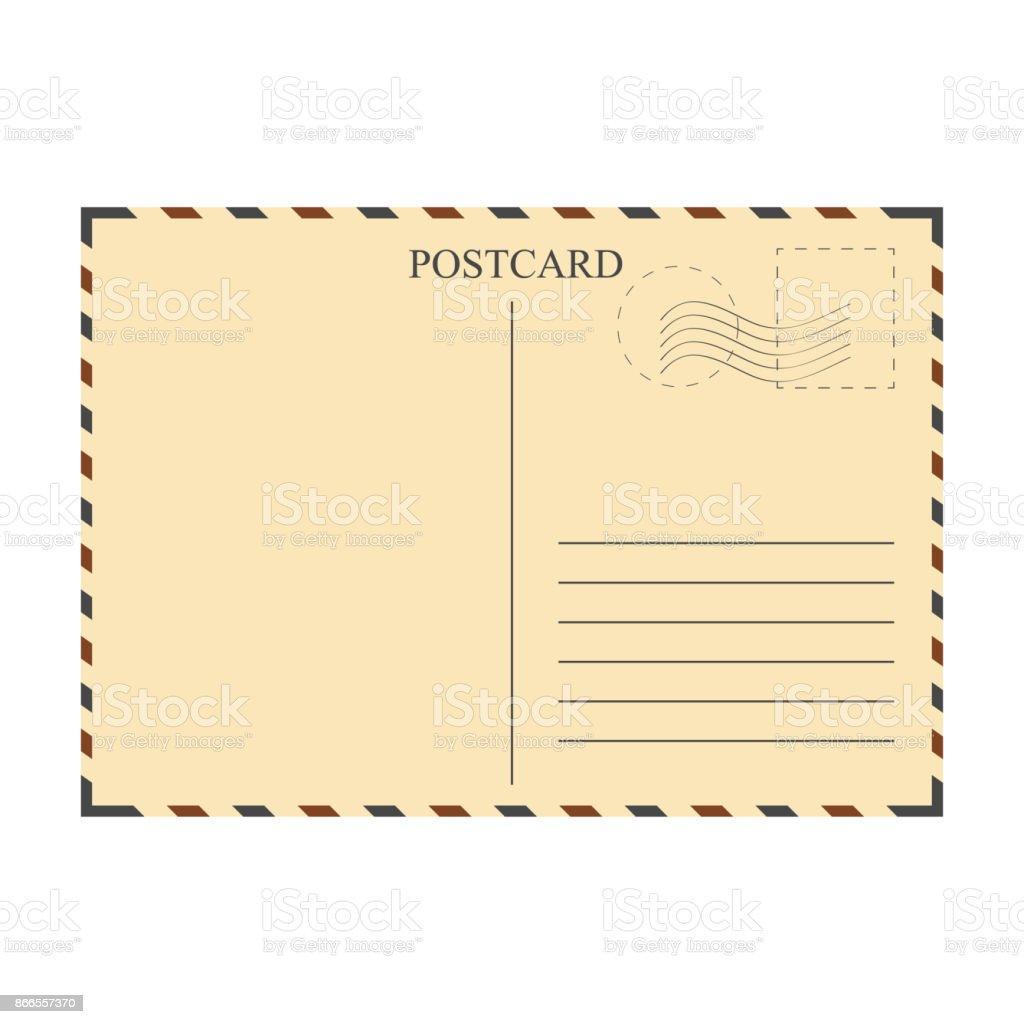 Vintage postcard, template vector art illustration