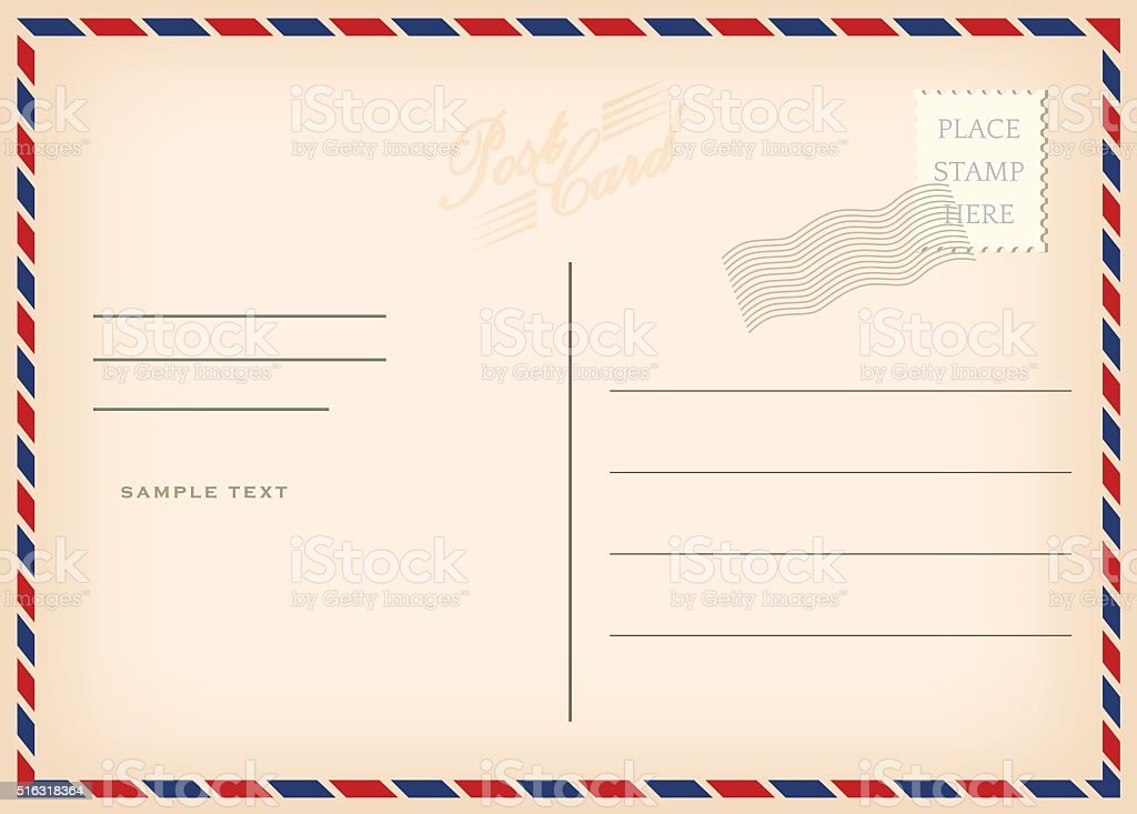 vintage postcard stock vector art 516318364 istock postage stamp clip art png postage stamp outline clip art
