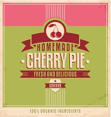 Vintage poster design with food and drink concept.