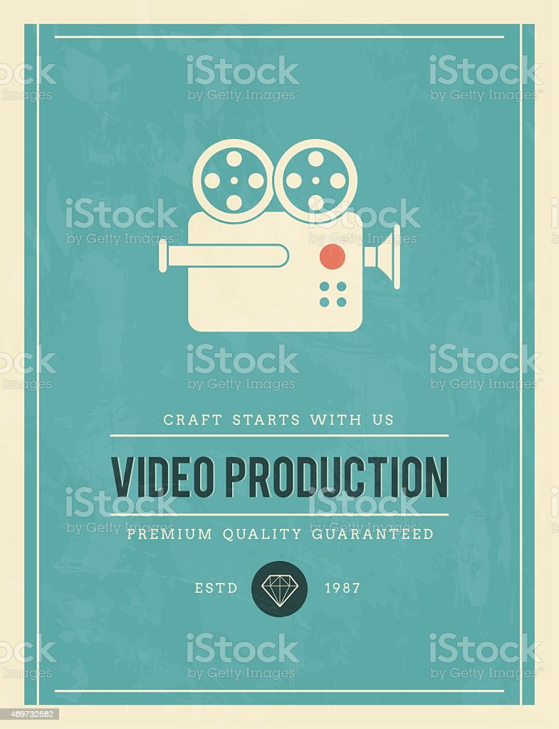 vintage poster for video production