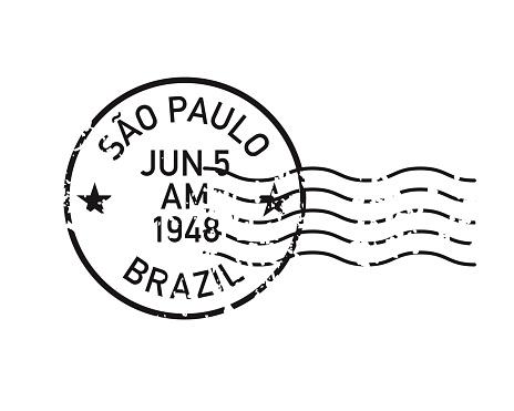 Vintage Postmark Stamp Icon