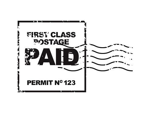 An antique grunge postmark stamp. File is built in CMYK for optimal printing.