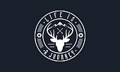 Outdoor Badge Emblem Vector  Illustration